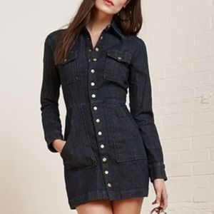 Reformation Hartley denim button down dress